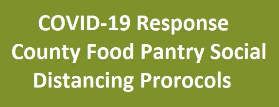 An image linking to the COVID -19 Response protocols for the Wayne County Food Pantry