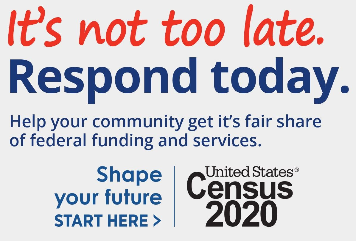 An image urging residents to respond to the 2020 Census by Sept. 30. It's not too late.