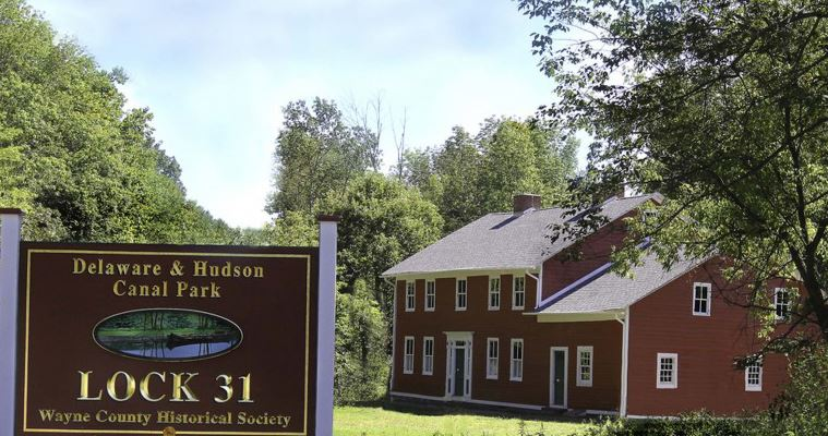 A view of the Daniels Farmhouse at the D&H Canal Park at Lock 31 near Hawley.